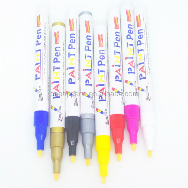 Uni and Edding standards waterproof ink metallic color Paint Marker pen