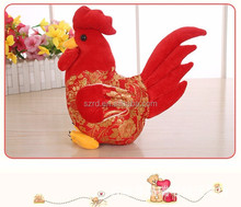 2017 Big red rooster plush toys/cheap plush animal toy/rooster plush stuffed toys