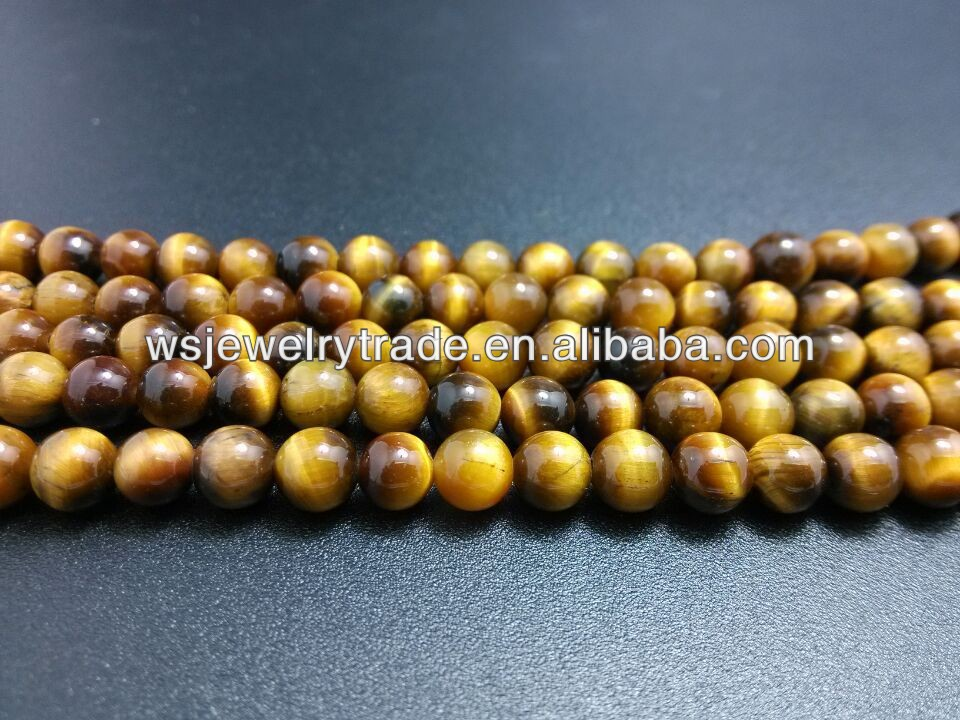 6mm 8mm 10mm 12mm A Grade Yellow Tiger Eye Beads Factory Direct Sell