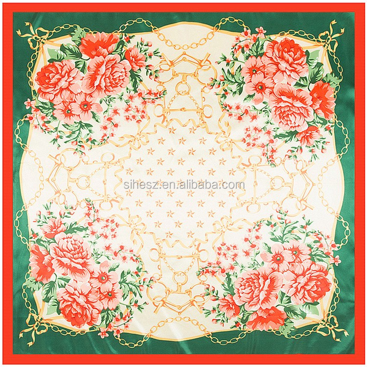 high quality multicolor square silk scarf hangzhou