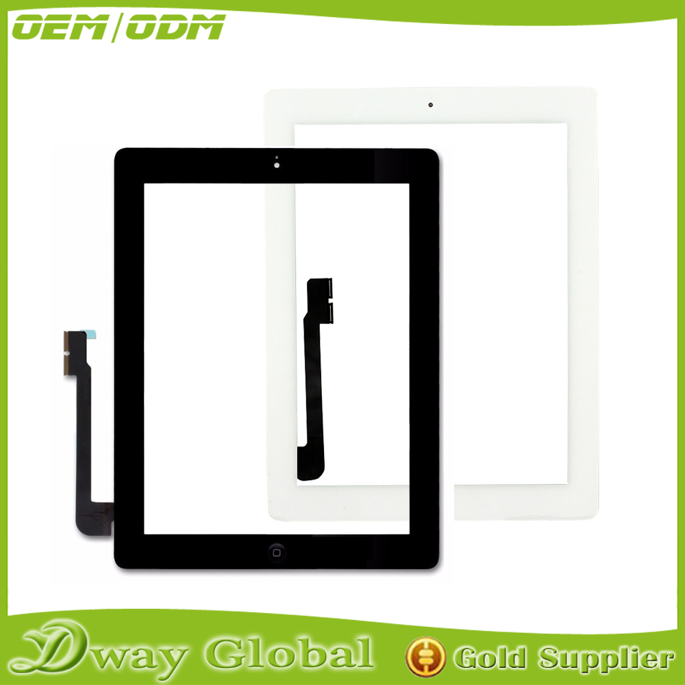 Wholsale price replacement touch panel for apple ipad 3 touch screen digitizer sensor with home buttom assembly