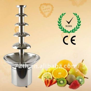 5 tiers 86cm chocolate fountain stainless steel catering equipment