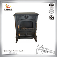 cast iron Material Wood Stove type parts log burning stoves for cook applicance