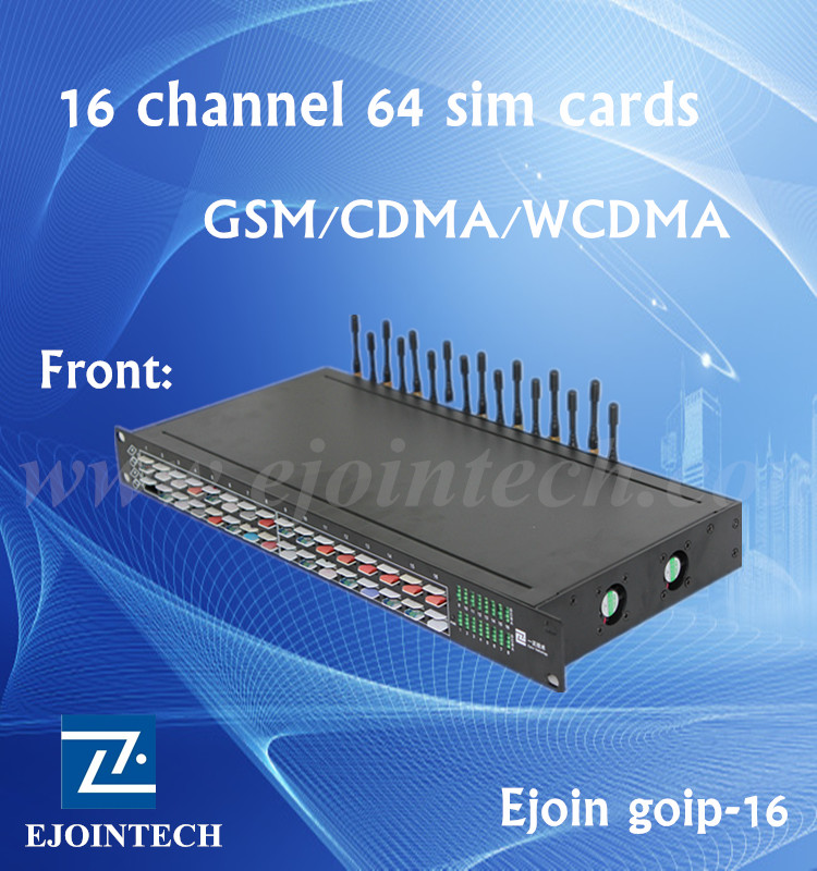 16 port gsm/cdma/wcdma modem 64 sim cards device bulk sms gateway