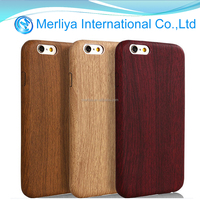 thin leather phone wooden case for Iphone6s