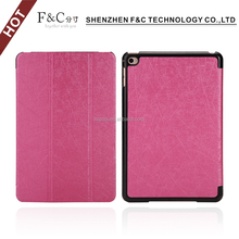 Leather cover for ipad mini foldable stand case for ipad mini 4 hard shell