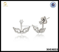 Fashion USA and European Silver Earrings for Ladies Earrings Designs Pictures