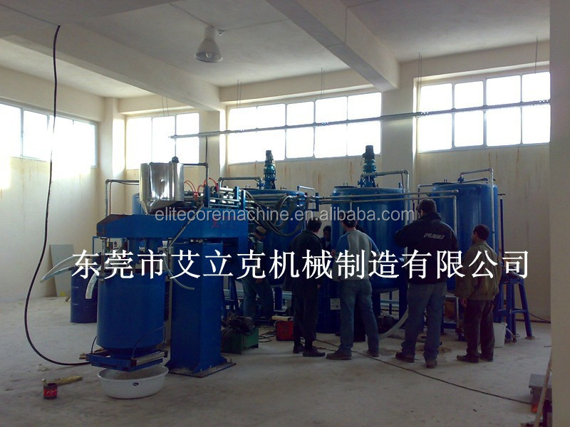 ECMT-113b Batch Foam Plant for Manufacturing of Flexible foam /foam machine semi <strong>auto</strong>