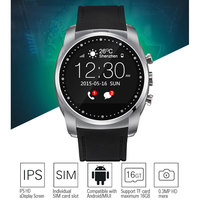 Waterproof Bluetooth Android Smart Watch with GPS Tracking, Camera, Pedometer, Heart Rate Monitor, Temperature Sensor
