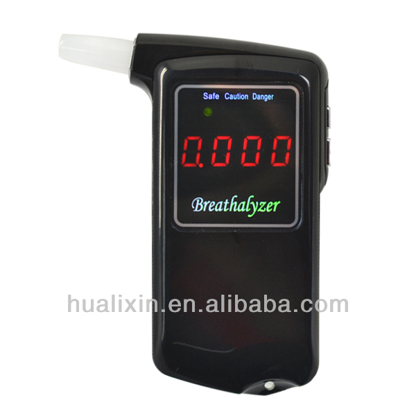 AT-858 Professional Alcohol Breathalyzer Frog Motion Sensor Car Decoration with LCD Blue Backlight