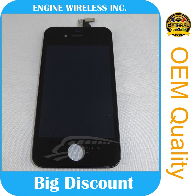 Lcd with digitizer touch screen for iphone 4s lcd digitizer frame