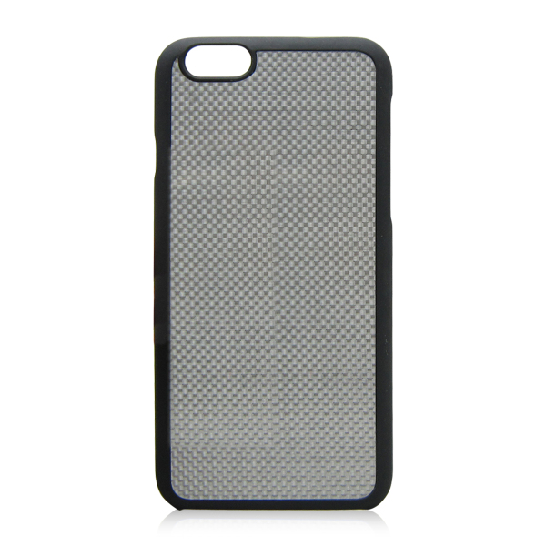 Paint PC bottom + silver carbon fiber protective cover for iPhone 6 carbon fiber case
