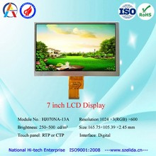 HJ070NA-13A 7 inch lcd display with 1024 x 600 resolution