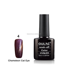 2016 new arrival OEM and ODM welcome gel polish ,Chameleon Cat Eye gel nails ,color gel nail polish