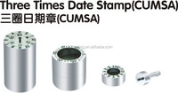 injection mold date code inserts /date time stamps