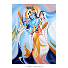 Indian Lord Radha Krishna Tanjore Religious God Artists Paintings Sale
