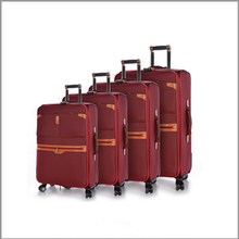 hot 2016 eminent red color ultra light space soft trolley luggage 4pcs