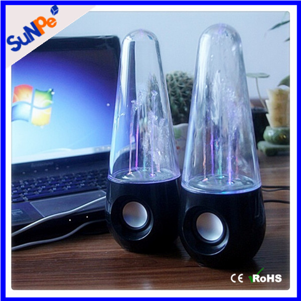 Water Dancing Laptop Computer Speaker With Led Light