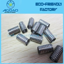 Hot sale round crimp metal aglets custom metal cord end