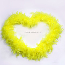 low MOQ 40g turkey feather boa for party wedding decoration boa chandelle