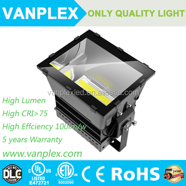 DLC ETL listed IP65 water outdoor 300w 500W 1000w led floodlight/stadium light/led high bay light
