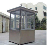 High end & free designed police box, portable security booth, Prefab sentry box of elegant style