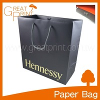 Hot Foil Stamping Surface Finishing Brand Logo Paper Gift Bag