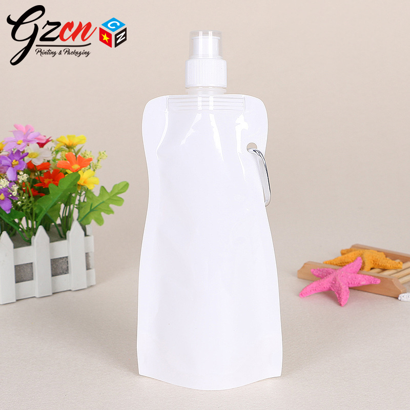 customized plastic stand up foldable spout pouch water bag