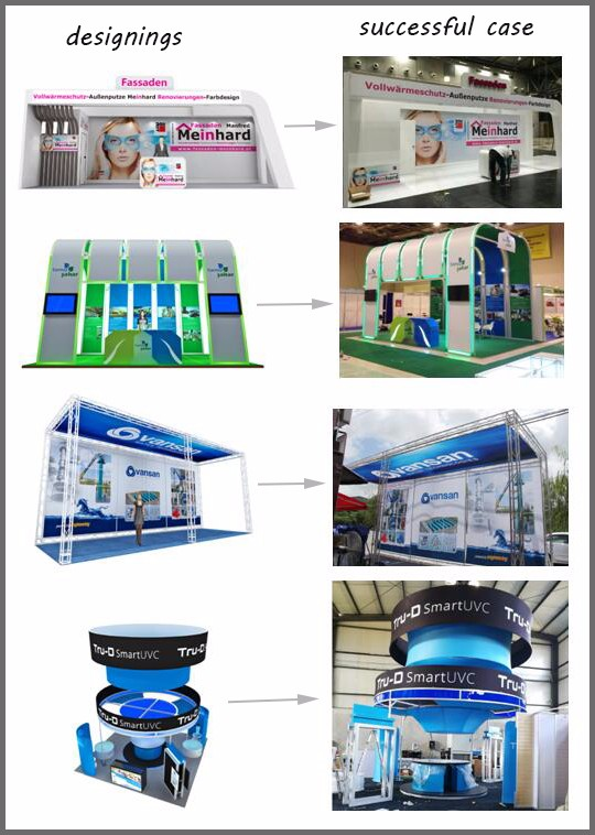 Saria work with USA Dong for Lima Double deck stand, free Design two storeys wooden booths