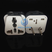 WDI-5 Mutil-Socket to TAIWAN with 2 Round-Flat Socket, USA Travel Adapter Taiwan, Japan, U.S.A., Canada.