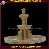 Luxury egypt stone marble outdoor garden water fountain