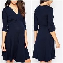 chinese clothing manufacturers custom high quality deep v neck mini dress maternity clothes