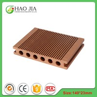 Anti-slip Wood Plastic Composite Deck Board WPC Flooring Deck