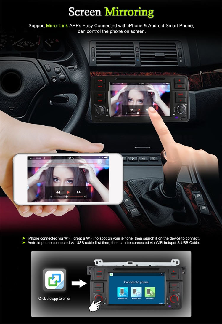 2G Ownice C500 quad core Android 6.0 car navi radio for BMW E46 2005 built in 4G LTE 1024*600 HD 16G