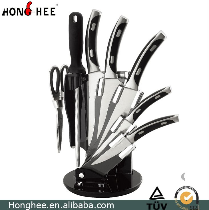 Stainless Steel 8PCS Acrylic Block Knife Set