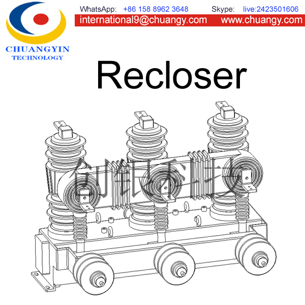 ZW43 automatic recloser high voltage 24kV 400a vacuum circuit breaker China