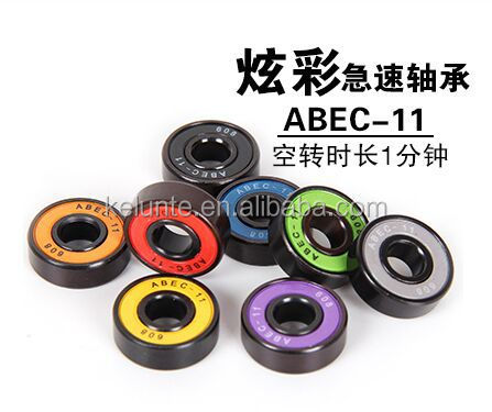 High precision Deep groove ball <strong>bearing</strong> colourful skateboard <strong>bearing</strong> 608