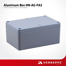 Professional Manufacture Hennepps 120*80*55 HN-AG-FA2 Electronic Junction Box Price IP66 Waterproof Diecast Aluminum Enclosure