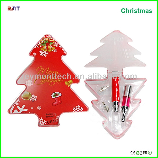 So cool !!! 2015 Top selling e cigarette ego ce4 blister christmas red tree pack