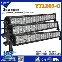 Y&T modern design new 120W light bar emergency 2 row offroad led bar lights