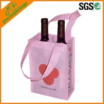 eco reusable non woven wine bottle holding bags