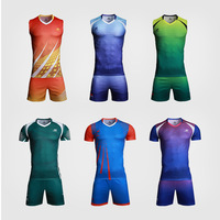 Latest sublimation volleyball uniform shirts designs custom your own mens and women sleeveless volleyball jersey