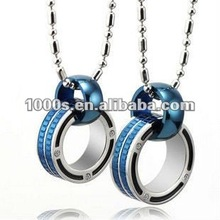 couple pendant, stainless steel jewelry