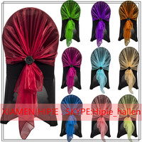 Organza Hoods Sashes wedding chair cover wraps bow sash