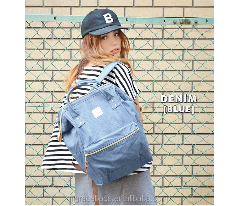 hotsale printed canvas denim cotton backpack bags