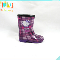 Cute design Children PVC Rubber Boots ,High Heel Rubber Galoshes