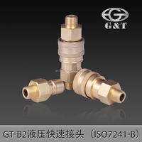 B2 Brass quick coupler, quick coupling