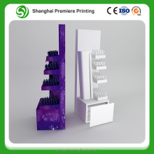 shop retail table top cosmetic retail cardboard floor display/ cosmetic cardboard display