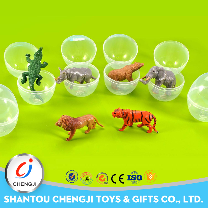 New arrival small plastic surprise eggs zoo animal toys for kids