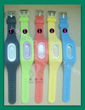 silicone cream digital led watch new style silicone anion watch